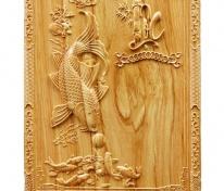 Đốc lịch tết gỗ Pơ Mu đục Cá Chép